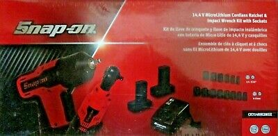 Snap-on14.4V MicroLithium Cordless Ratchet & Impact Wrench Kit With Sockets
