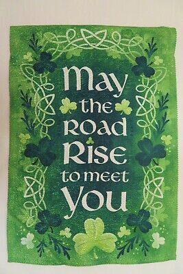 S1289 Tapestry Word Pillow Cotton Fabric May the road rise to meet you..