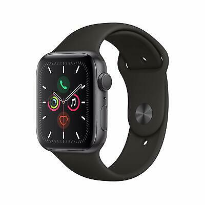iWatch Series 5 (GPS, 44mm) - Space Gray Aluminum Case with Black Sport Band