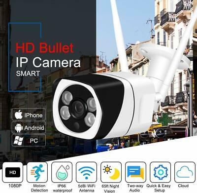 1080P Outdoor Wireless Wifi Security IP Camera Bullet Home CCTV Night Vision