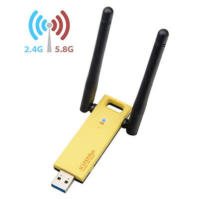 USB 3.0 Dual Band Realtek RTL88 WiFi Network Adapter For PC 1200Mbps Wireless AU