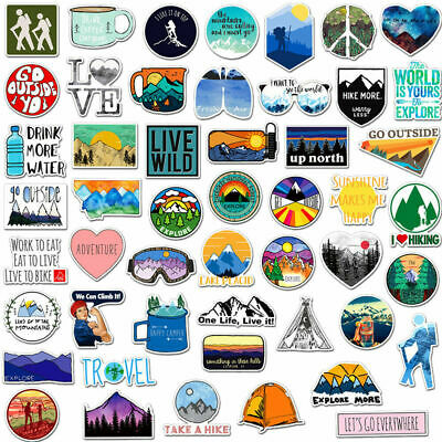 50 Funny Skateboard Stickers Vinyl Laptop Luggages Decals Sticker lot cool