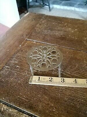 Antique Brass Small  iron Trivet Cake Stand Vintage Kettle Victorian Pan  Holder