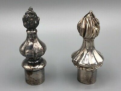 Two Vintage Silver-plate Decorative Bottle Stoppers
