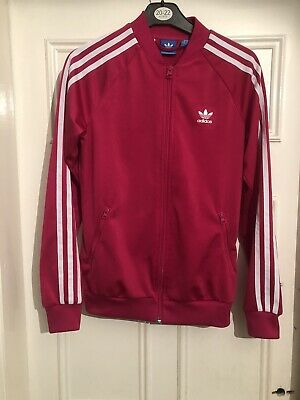 Adidas Girls Pink Tracksuit Top Age 13-14