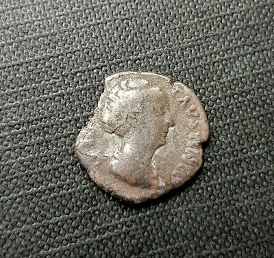 #f317# Roman silver denarius coin of Faustina I from 148-161 AD