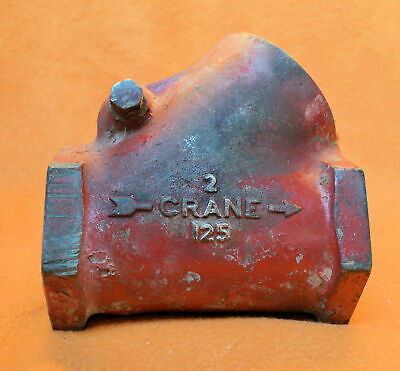 "Crane 125 2"" Check Valve  Y-Pattern  - Good Used Condition"