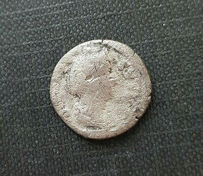 #f310# Roman silver denarius coin of Faustina I from 148-161 AD