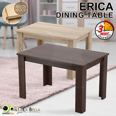 Erica Dining Table Rectangular Home Furniture Rectangular Natural Wooden Cafe