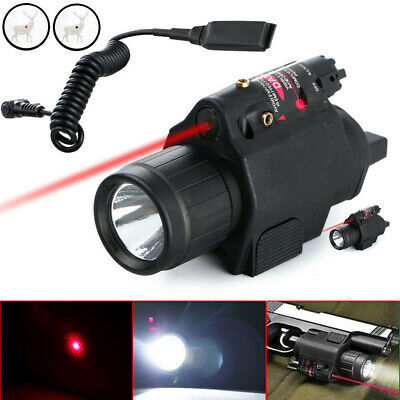 Tactical Combo Flashlight Mini Red Dot Laser Sight For 20mm Picatinny Rail Mount