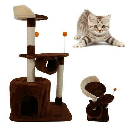 """39""""H Cat Tree Tower Condo Furniture Scratching Post Pet Kitty Play House Coffee"""