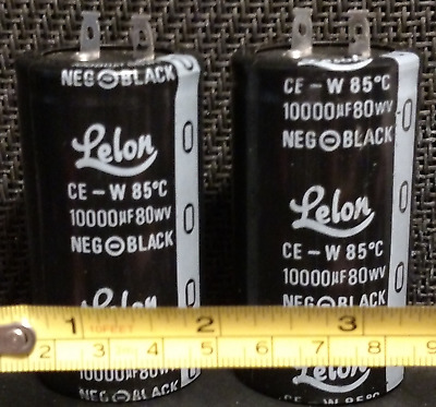 NEW 10000 uF by 80V ELECTROLYTIC CAPACITOR 50x35mm Nippon Chemi-con