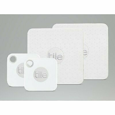 Tile Bluetooth Tracker 4 Pack Slim & Mate(Replaceable battery)