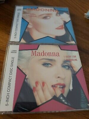 "2 MADONNA 5"" CD : Lucky Star/Borderline et Holiday/Everybody"