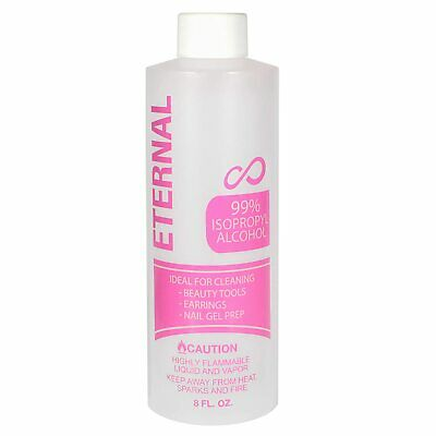 Eternal 99% Isopropyl Alcohol for Beauty Tools, Earrings and Nail Gel Prep 8 oz.