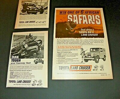 3 Toyota Land Cruiser Ads 1960's