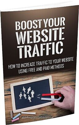 Boost Your Website Traffic Ebook with Full Master Resell Rights   MRR   PDF