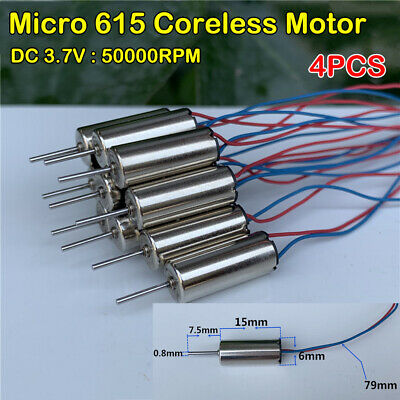 2PCS DC3.7V 50000RPM 7*16mm Mini Coreless Motor Helicopter Quadcopter RC Engines