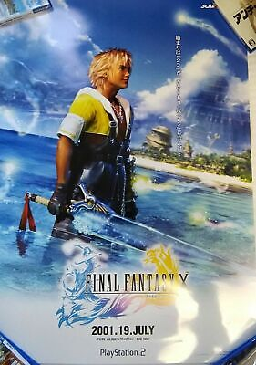 Used FINAL FANTASY Ⅹ 10 Rare Game Official Promo Poster Size B2 PS2 Japan 2001
