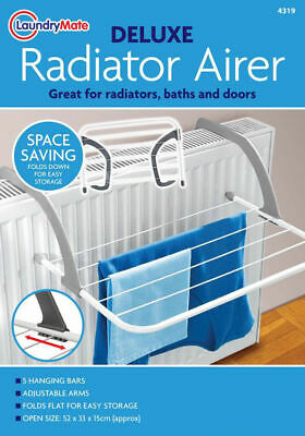 2 x 3M Drying Space Dryer Radiator Airer Space Saver Towel Rack 5 Bar New