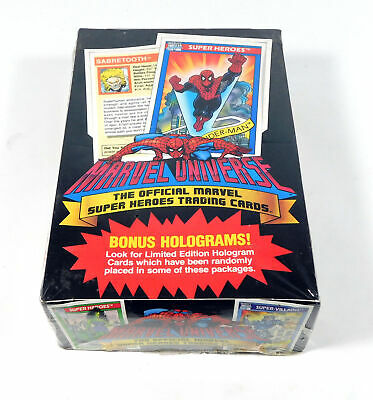 1990 Impel Marvel Universe Series 1 Trading Card Box Sealed (36 Packs)