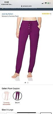 Josie By Natori Women'S Femme Lounge Pant- Brand New- XL Purple! Free Shipping