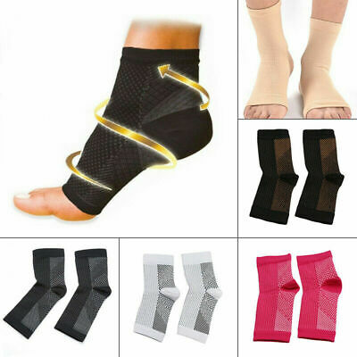 1Pair Compression Ankle Sleeve Copper Infused Magnetic Foot Support Heel Sock