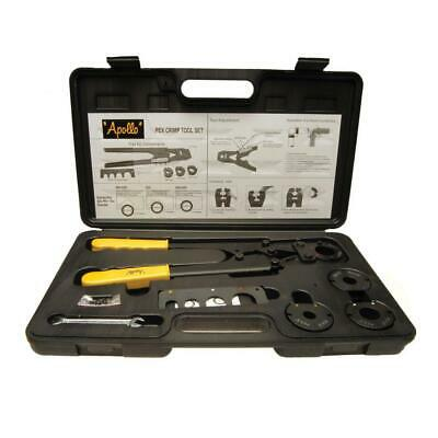Apollo PEX Crimp Tool Kit Multi-Head 4-Interchangeable Jaws Go/No-Go Gauge