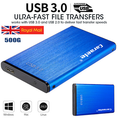 USB 3.0 SATA 500GB External Hard Drive Disk HDD 2.5''Fit For PC Windows Portable