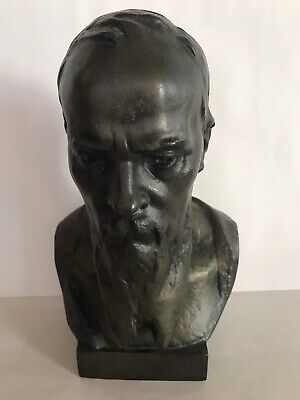 Very Rare Antique Russian Bronze Bust Signed