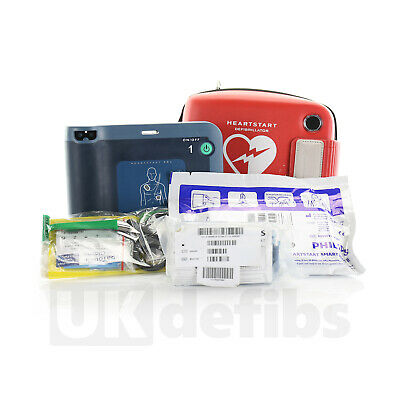 Philips HeartStart FR2+ AED with Brand New Battery, New Adult Pads and Good Case