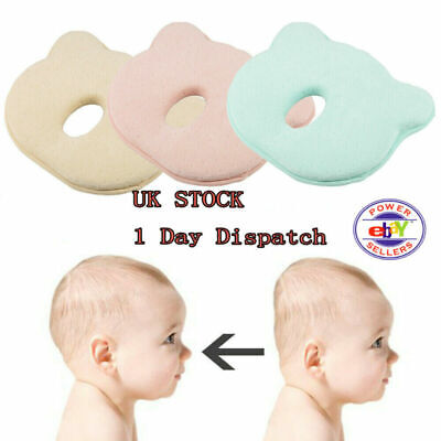 UK✅ Baby Cot Soft Pillow Prevent Flat Head Memory Foam Cushion Sleeping Support