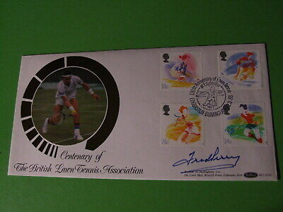 Benham 1988 Sport Fdc Cover Signed Fred Perry - Wimbledon Tennis Mens Champion