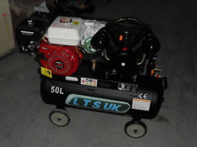 AIR COMPRESSOR 50 LTR NEW  PETROL ENGINE 5.5 HP NEW 2 YEAR WARRANTY free airline