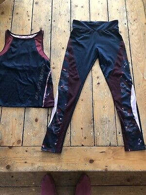 Zara Sport Gym Leggings & Gym Double Layered Top 13-14 Years