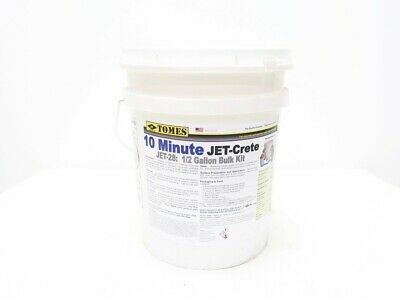Je Tomes JET-28 1/2 Gallon Bulk Kit 10 Minute Jet-crete Concrete Repair
