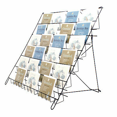 Large Collapsible Greeting Card Book Display in Black for Shops & Stalls (E6B)