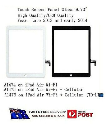 For IPAD air A1474 A1475 Touch Screen Digitizer Touch Panel Glass Lens LCD Front