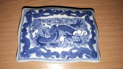 Antique Chinese Porcelain Box with dragon design