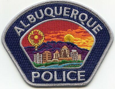 ALBUQUERQUE NEW MEXICO NM Gray Border Blue Background POLICE PATCH