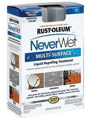 Rust Oleum Never Wet Multi Surface Liquid Repelling Treatment Kit Frosted Clear