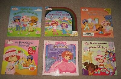 New Lot of 6 Strawberry Shortcake Books Scratch Sniff Greeting Card Stickers