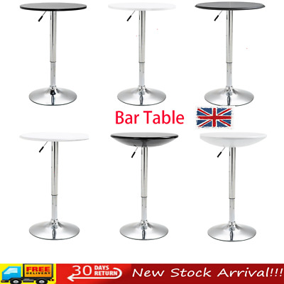 vidaXL Bar Table MDF Bistro Table Coffee Desk High Bar Table Counter Stand Side Table Home Kitchen Breakfast Table Pub Table White 120x60x110cm
