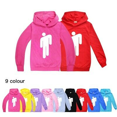 2020 Billie Eilish Kids Children Hoodies Sweatshirt Jumper Hooded Tee Tops 2-16Y
