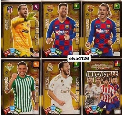 Balones De Oro Y Carta Invencible Adrenalyn 2019-2020