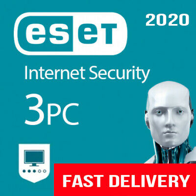 Eset Internet Security Genuine Key 2020 (1 Year / 3 Pc )