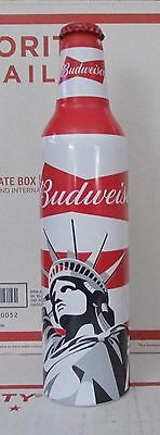 Budweiser Beer Statue of Liberty America Lady Aluminum Empty Bottle 16oz 502581