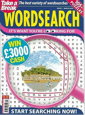 2 Take A Break Word Search Magazines Lots Of Puzzles March 2020