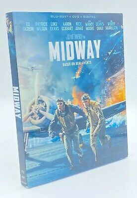 Midway [2020] Blu-ray+DVD+Digital & Slipcover  Based on Real Events 2019 Film