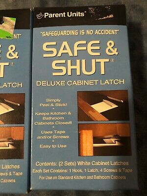 Parent Units 2 Pack Safe and Shut Deluxe Cabinet Latch Bundle Of 3